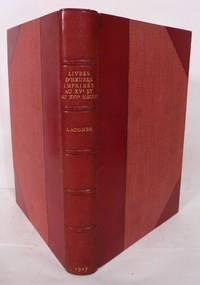 image of Livres D'Heures Imprimes Au XVe Et Au XVIe Siecle; Conserves Dan Les Bibliotheques Publiques De Paris