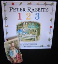 "image of Grouping:  "" Peter Rabbit's 1 2 3"" with ""Curious Rabbit"" (features # 1) 3 1/4""  figurine # 269443 by ""Enesco"""