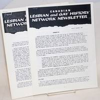 Canadian Lesbian and Gay History Network Newsletter #1 & #2, December 1985 & September 1986 [first two issues]
