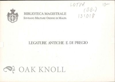 (Valetta Malta): Biblioteca Magistrale, n.d.. Bookbinding. postcards (4 1/4 by 5 3/4 inches). Text i...