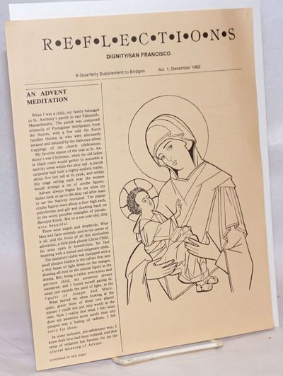 San Francisco: Dignity/SF, 1982. Four-panel newsletter, 8.5x11 inches, articles, reviews, news, two ...