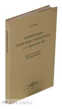 INHOLDSFORTEGNELSE NORDISK EXLIBRIS TIDSSKRIFT (N.E.T.) 1.-31. ÅRGANG 1946-1979