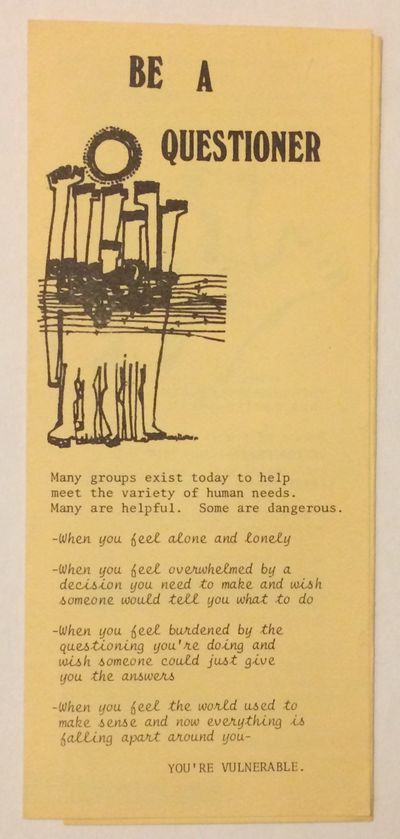 Corvallis, OR: Campus Christian Ministries, Oregon State University, 1981. Six panel brochure, very ...