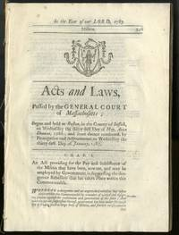 Acts and Laws Passed by the General Court of Massachusetts: Militia (Shays' Rebellion)