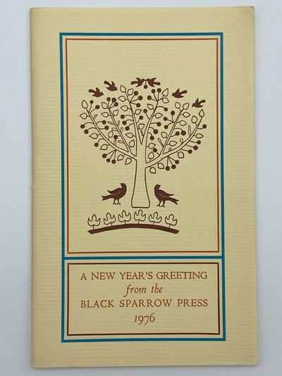 Santa Barbara: Black Sparrow Press, 1976. A fine copy. 8vo. pages. Sewn as issued in original printe...