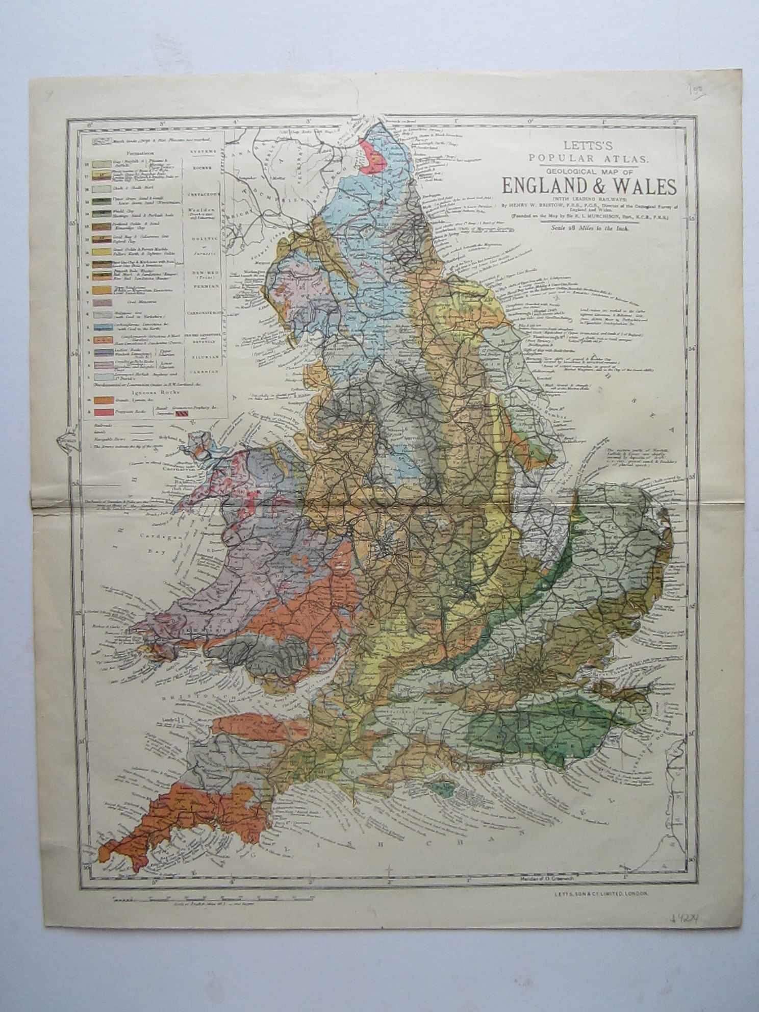 Geological Map of England & Wales (photo 1)