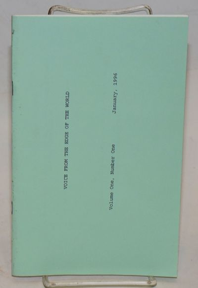 Berkeley: Edge of the World Publishing Company, 1996. 12 pages of poetry on 24 leaves (printed recto...