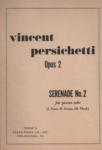 image of SERENADE NO. 2 For Piano Solo, Opus 2