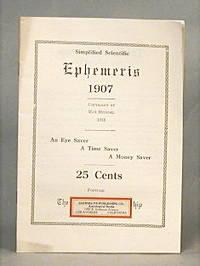 image of Simplified Scientific Ephemeris 1907