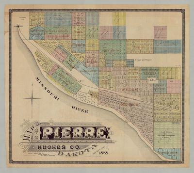 Map of Pierre Hughes Co. Dakota....