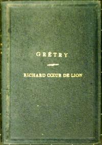 Richard Cœur de Lion, partition piano seul.