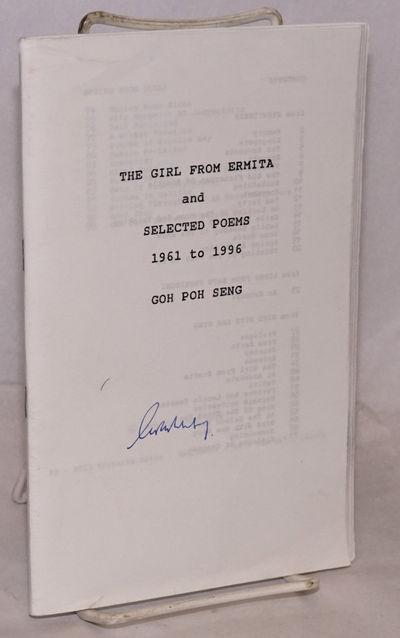 Vancouver: the author, 1998. 96p., staplebound wraps, light edgewear, illegible blue pen signature o...