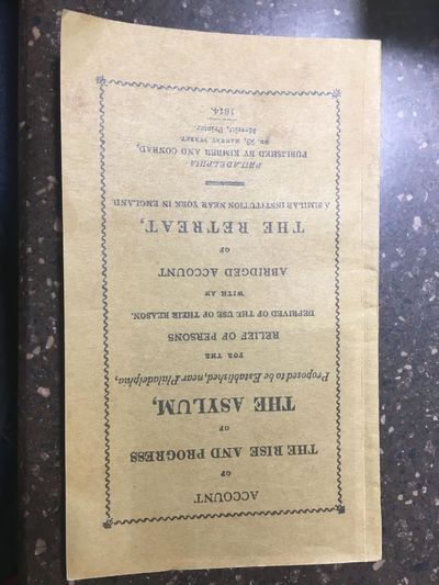 Philadelphia : Kimber and Conrad , 1814 . Facsimile Reprint. Softcover. Octavo, 72 pages; VG; in oli...