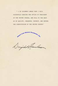 Dwight Eisenhower Signs An Oath Of Office