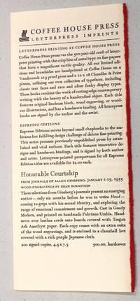 Minneapolis: Coffee House Press, 1993. 4.25