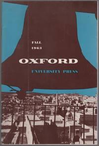 image of (Publisher's Catalog): Oxford University Press, Fall 1963