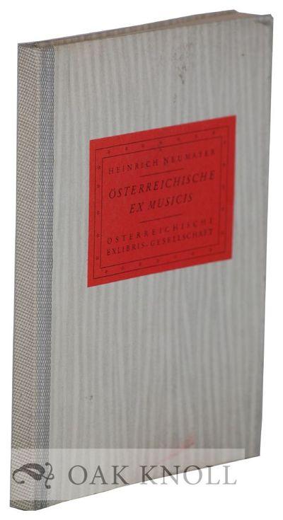 Wien (Vienna), Austria: Österrichischische Exlibris Gesellschaft, 1960. quarter cloth, paper-covere...