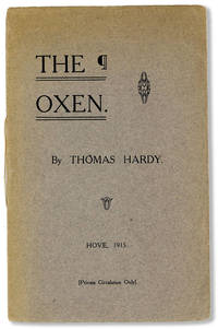 The Oxen by  Thomas HARDY - Paperback - First Separate Edition - 1915 - from Lorne Bair Rare Books and Biblio.com