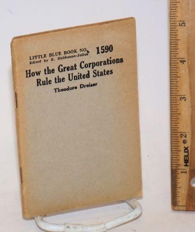 Girard, KS: Haldeman-Julius Publications, 1931. 62p., wraps edge worn and browned, paper browned, 3....