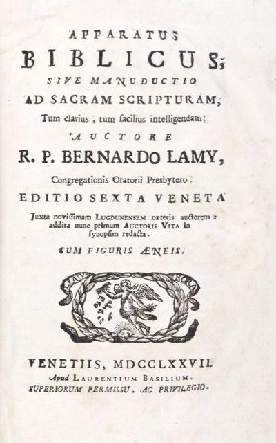 Venetiis (Venice): Laurentium Basilium, 1777. Editio Sexta Veneta (Sixth Venice edition). Hardcover....