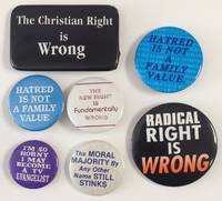 image of [Group of seven pins opposing the Christian Right]