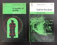 2 Vols.: Call For The Dead & A Murder Of Quality : First Edition UK Paperbacks : Both Double...