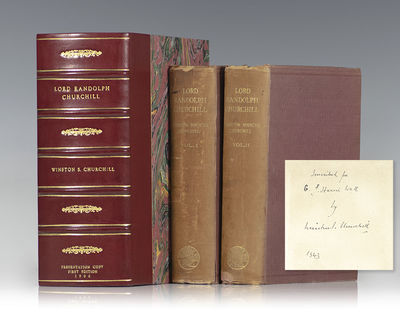 London: Macmillan & Co. Limited, 1906. First edition of Winston S. Churchill's biography of his fath...