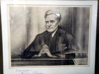 Lithographic Portrait Signed By Justice Benjamin Cardozo