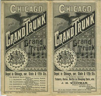 1882 Chicago and Grand Trunk And Grand Trunk Railway Line Time Table & Advertising Brochure