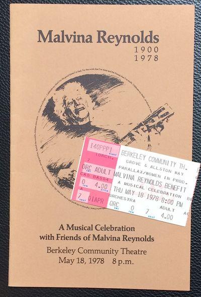 Bekeley, CA: , 1978. Pamphlet. , staplebound concert program, 5.5x8.5 inches, illus., very good cond...