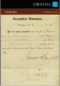 image of AUTOGRAPHS: Including Items from the Collection of James M. Ransom. Public Auction Sale 2296. Thursday, November 29, 2012....