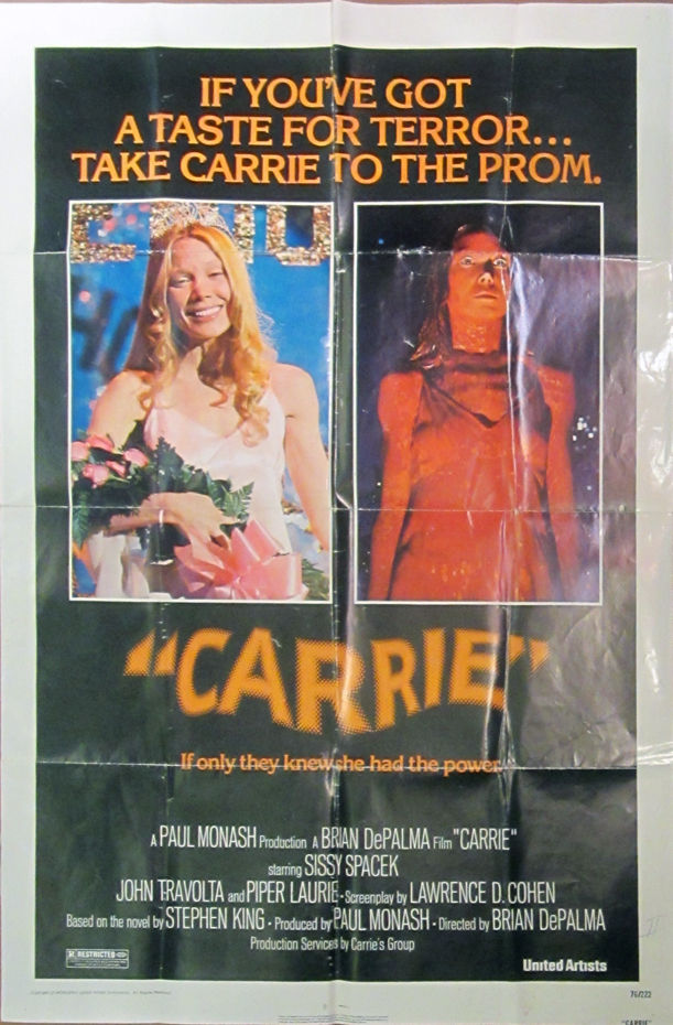"Carrie - Original Folded One Sheet Movie Poster(1976"" by ..."