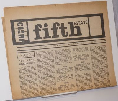 Detroit: The Fifth Estate, 1966. Newspaper. 8p., folded tabloid, illus., browned, small chips at qua...