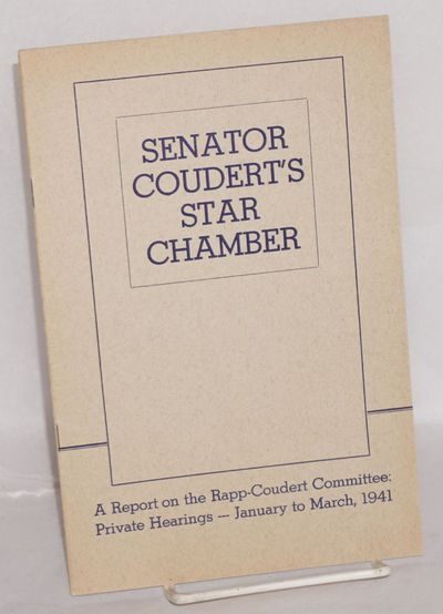 New York: Committee for the Defense of Public Education, 1941. 15p., very good in wraps. Bella Dodd ...