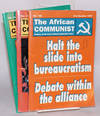 image of African communist: published quarterly as a forum for Marxist-Leninist thought , by the South African Communist Party; 3 issues