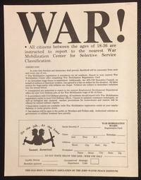 image of War! [handbill parodying an announcement of the resumption of the draft]