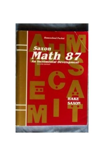 Math 87 2e Answer Key & Tests (Saxon Math 8/7) by Hake