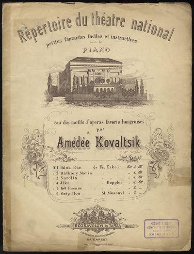 Budapest: Rózsavölgyi és Társa , 1900. Folio. Original publisher's wrappers with vignette of the...