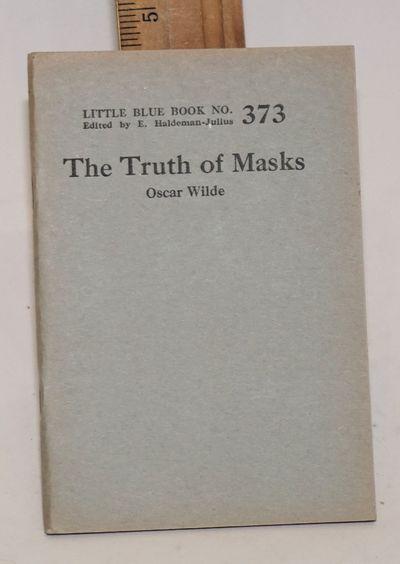 Girard, KS: Haldeman-Julius Company, n.d.. 59p., very good in wraps. Little Blue Book 373.
