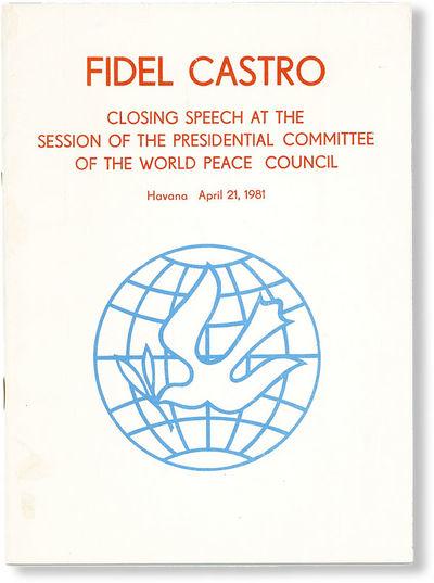 Habana: Editora Politica, 1981. First English Language Edition. 12mo (19cm.); publisher's white pict...