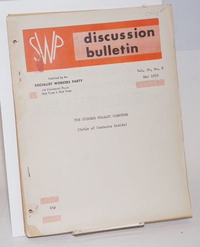 New York: Socialist Workers Party, 1959. 60p., wraps, mimeographed on one side only, 8.5x11 inches, ...
