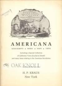 AMERICANA, MANUSCRIPTS, BOOKS, MAPS, VIEWS