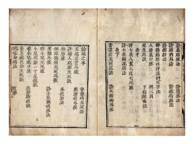Several small woodcuts in the text. 52 folding leaves. Three parts in one vol. Large 8vo, orig. wrap...