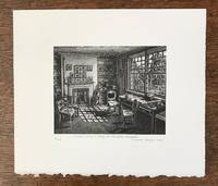 THOMAS HARDY'S STUDY (Signed, Limited Engraving By Howard Phipps)