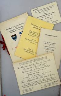 PROGRAMME: University College Hospital and University of London University College. Thursday May 31st 1923 [ Copy of The Right Honourable Sir Edward Cecil Moore (1851-1923), Lord Mayor of London, 1922-23 - with Other Ephemera ]