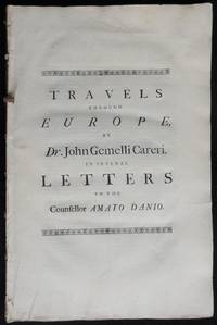 image of Travels through Europe, in several letters to the Counsellor Amato Danio
