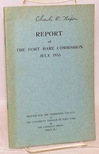 image of Report of the Fort Hare Commission July 1955