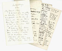 [A Small Archive of Manuscript Drafts of Letters, and an Autograph Letter Signed]