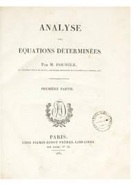 Analyse des Équations déterminées...Première Partie