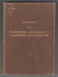 Symphonie Liturgique:  Partition d'Orchestre